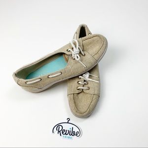 Keds Sport Tan Lace Up Boat Shoes Sneaker Flats